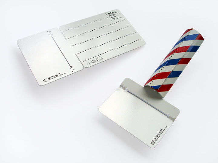 Red, White, Blue, postcard cheeseslicer by Eric Klarenbeek