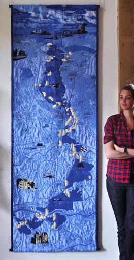 Opening Wandkleed bij Marienwaerdt, ontwerp Eric Klarenbeek